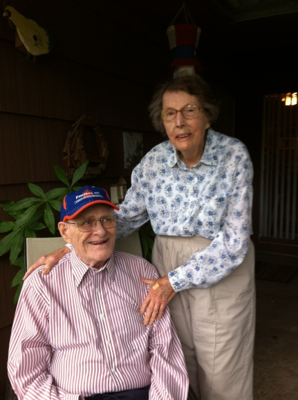 My husband's parents both lived into their 90s but have gone on .
